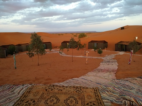 Morocco camp in desert