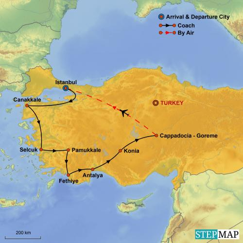 Turkey tour map2