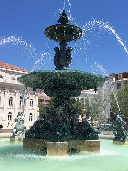 Portugal lisbon water fountain