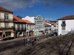 Azores Terceira Street from church