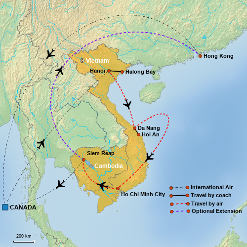 VietnamCambodia map 2018